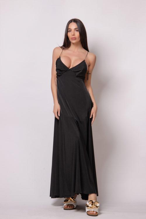 alice-evis-long-silk-dress-black