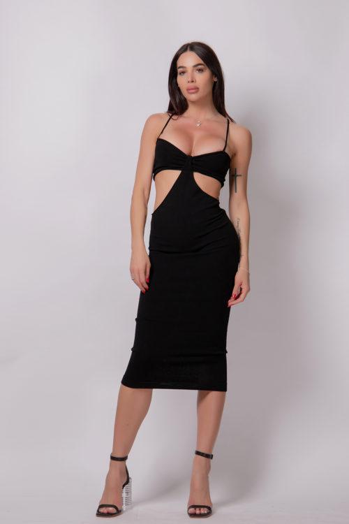 alice-evis-cut-off-slim-fit-dress-7/8-black